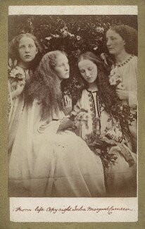 'The Rosebud Garden of Girls' (Eleanor Dora ('Nelly') MacCallum (née Fraser-Tytler); Mary Seton Watts (née Fraser-Tytler); Christina Catherine Liddell (née Fraser-Tytler); Etheldred ('Ethel') Fraser-Tytler), by Julia Margaret Cameron - NPG x18070