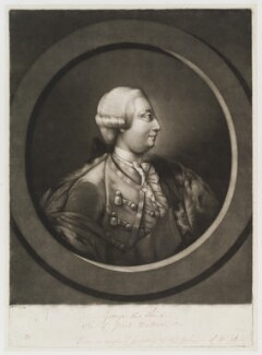King George III, by Jonathan Spilsbury, published by  Thomas Jefferys - NPG D19913