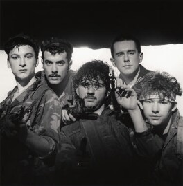Frankie Goes To Hollywood (Mark O'Toole; Paul Rutherford; Peter Gill; Holly Johnson; Nasher Nash), by Eric Watson, 5 April 1984 - NPG  - © Eugene and Willa Watson / National Portrait Gallery, London