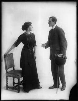 Margaret Chute as Mrs Cowper-Cowper; G. Trevor Roller as Parker in 'Lady Windermere's Fan', by Bassano Ltd - NPG x103958