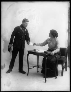 Margaret Chute as Mrs Cowper-Cowper and boy in 'Lady Windermere's Fan', by Bassano Ltd - NPG x103962
