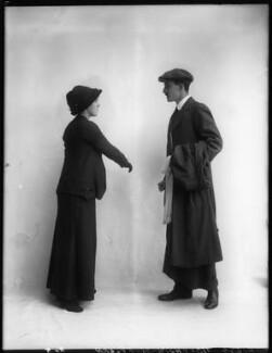 Margaret Chute as Mrs Cowper-Cowper; G. Trevor Roller as Parker in 'Lady Windermere's Fan', by Bassano Ltd - NPG x103963
