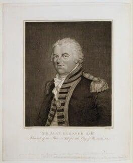 Alan Gardner, 1st Baron Gardner, by and published by Burnet Reading, after  Theophilus Clarke - NPG D19987