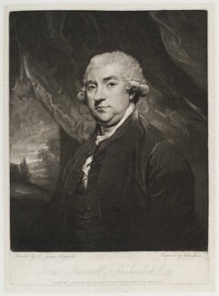 James Boswell, by and published by John Jones, after  Sir Joshua Reynolds, published 17 January 1786 (1785) - NPG D19988 - © National Portrait Gallery, London