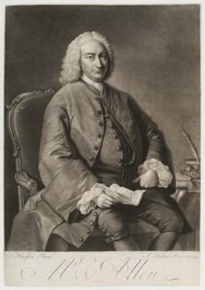 Ralph Allen, by John Faber Jr, after  Thomas Hudson, 1754 - NPG D19992 - © National Portrait Gallery, London