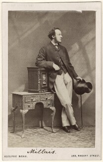 Sir John Everett Millais, 1st Bt, by Adolphe Paul Auguste Beau - NPG Ax14799