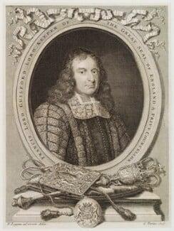Francis North, 1st Baron Guilford, by George Vertue, after  David Loggan - NPG D20007