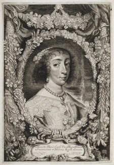 Henrietta Maria, by Jonas Suyderhoef, published by  Pieter Claesz Soutman, after  Sir Anthony van Dyck - NPG D20016