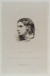 John Keats, by Henry Meyer, published by  Henry Colburn, after  Joseph Severn - NPG D20019