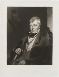 Sir Walter Scott, 1st Bt, by George Henry Phillips, published by  William Tegg, after  Charles Robert Leslie, published 17 February 1864 - NPG D20026 - © National Portrait Gallery, London