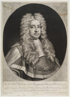 Sir Robert Raymond, 1st Baron Raymond, by and sold by John Simon, after  James Maubert - NPG D20035