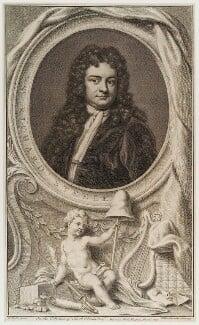 Sir Richard Steele, by Jacobus Houbraken, published by  John & Paul Knapton, after  Sir Godfrey Kneller, Bt - NPG D20043