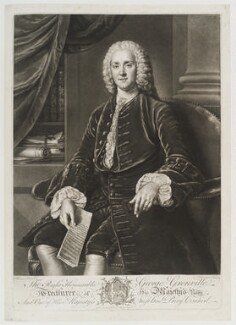 George Grenville, by and published by Richard Houston, after  William Hoare - NPG D20047
