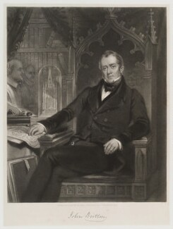 John Britton, by Charles Edward Wagstaff, after  John Wood, 1845 - NPG D20053 - © National Portrait Gallery, London