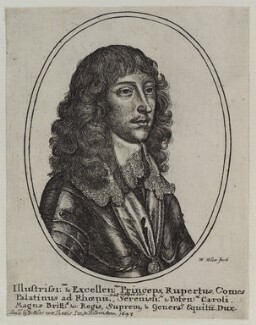 Prince Rupert, Count Palatine, by Wenceslaus Hollar, published by  John Giles, published 1643 - NPG D20069 - © National Portrait Gallery, London