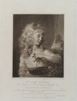 Princess Amelia, by Francesco Bartolozzi, published by  J.F. Tomkins, after  Sir Thomas Lawrence - NPG D20079