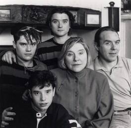 Tom Weldon; Sam Weldon; Dan Weldon; Fay Weldon; Nicolas Weldon, by Angela Williams (Angela Coombes) - NPG x68823