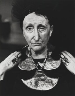 Edith Sitwell, by Jane Bown - NPG x28632