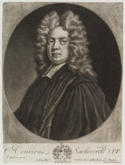 Henry Sacheverell, published by Philip Overton, after  Thomas Gibson - NPG D20096