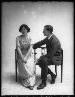 Margaret Chute as Mrs Cowper-Cowper; G. Trevor Roller as Parker in 'Lady Windermere's Fan', by Bassano Ltd - NPG x104139
