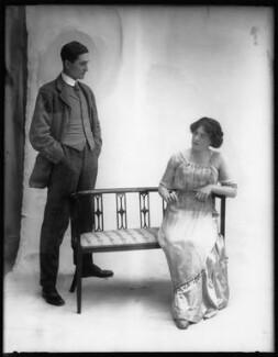 G. Trevor Roller as Parker ; Margaret Chute as Mrs Cowper-Cowper in 'Lady Windermere's Fan', by Bassano Ltd - NPG x104140