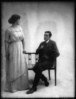 Margaret Chute as Mrs Cowper-Cowper; G. Trevor Roller as Parker in 'Lady Windermere's Fan', by Bassano Ltd - NPG x104141