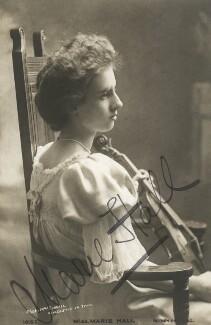Marie Hall, by Mrs Burrell (Henrietta Theonie Jerome Burrell) - NPG x17231