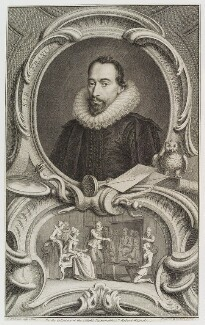 Sir Francis Walsingham, by Jacobus Houbraken, after  Federico Zuccaro - NPG D20110
