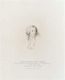 Horace Walpole, by Henry Meyer, published by  T. Cadell & W. Davies, after  William Evans, after  Sir Thomas Lawrence, published 27 November 1811 (1795) - NPG D20115 - © National Portrait Gallery, London