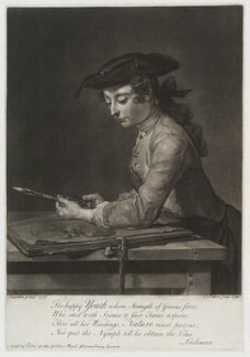 'The happy youth', by and published by John Faber Jr, after  Jean Baptiste Siméon Chardin - NPG D20118