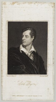 Lord Byron, by Charles Warren, published by  John Samuel Murray, after  Thomas Phillips - NPG D20133