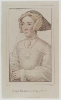 Jane Seymour, by Anthony Cardon, published by  John Chamberlaine, after  Hans Holbein the Younger, published 1 June 1812 - NPG D20148 - © National Portrait Gallery, London