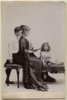 Daisy, Countess of Warwick with her children, by Rita Martin - NPG x68988