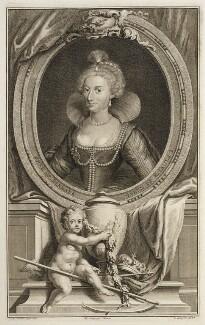 Anne of Denmark, by Jacobus Houbraken, after  Cornelius Johnson (Cornelius Janssen van Ceulen) - NPG D20149