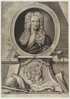 Sir Isaac Newton, by and published by Andrew Miller, published by  P. Smith, after  Sir Godfrey Kneller, Bt - NPG D20152