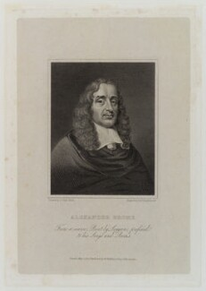 Alexander Brome, by Francis Engleheart, published by  W. Walker, after  George Clint - NPG D20171