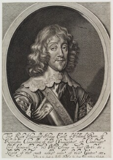 Henry Rich, 1st Earl of Holland, by William Faithorne, published by  Sir Robert Peake, after  Sir Anthony van Dyck - NPG D20174