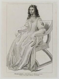 Margaret Cavendish (née Lucas), Duchess of Newcastle upon Tyne, published by Silvester Harding, published 10 August 1799 - NPG D20175 - © National Portrait Gallery, London