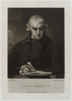 Isaac Reed, by Thomas Hodgetts, published by  John Samuel Murray, after  George Romney - NPG D20183