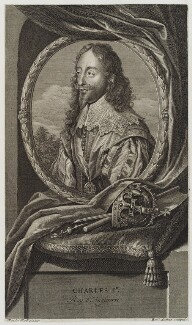 King Charles I, by Benoit Audran the Elder, after  Sir Anthony van Dyck - NPG D20197
