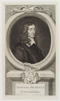 John Selden, by George Vertue, after  Sir Peter Lely - NPG D20201