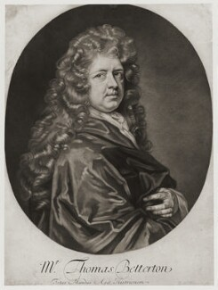 Thomas Betterton, by Robert Williams, after  Sir Godfrey Kneller, Bt - NPG D20224
