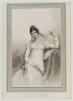 Mary Anne Clarke (née Thompson), by William Hopwood, published by  Thomas Gillett, after  Thomas Rowlandson - NPG D20228