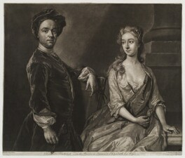Christian Friedrich Zincke and his wife, by John Faber Jr, after  Hans Hysing - NPG D20229