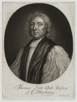 Thomas Tenison, published by Edward Cooper, published circa 1700-1725 - NPG D20241 - © National Portrait Gallery, London