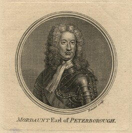 Charles Mordaunt, 3rd Earl of Peterborough, by Guillaume Philippe Benoist, after  Sir Godfrey Kneller, Bt, published 1757 - NPG D16678 - © National Portrait Gallery, London