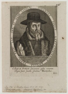 John Foxe, by Sebastian Furck, published by  Martin Droeshout - NPG D20257