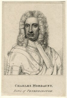 Charles Mordaunt, 3rd Earl of Peterborough, after Sir Godfrey Kneller, Bt, early 19th century? - NPG D16681 - © National Portrait Gallery, London