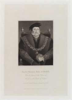 Charles Brandon, 1st Duke of Suffolk, by Edward Scriven, published by  Lackington, Allen & Co, and published by  Longman, Hurst, Rees, Orme & Brown, after  Robert William Satchwell, after  Unknown artist - NPG D20267