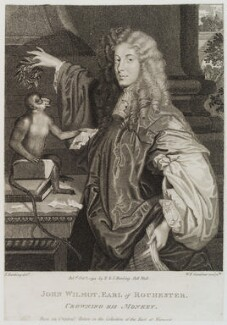 John Wilmot, 2nd Earl of Rochester, by William Nelson Gardiner, published by  E. & S. Harding, after  Silvester Harding, after  Unknown artist, published 1 October 1794 (circa 1665-1670) - NPG D20284 - © National Portrait Gallery, London